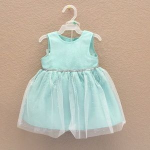 Beautiful Shimmering Turquoise Baby Girl Dress